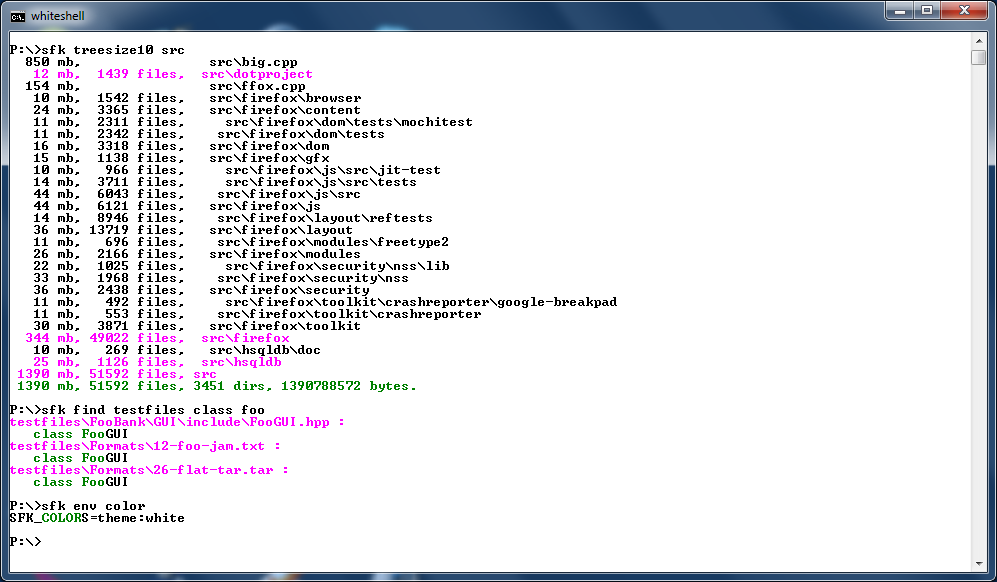 Swiss File Knife A Command Line Tools Collection For