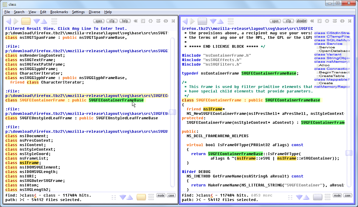 Fast Text File Search Tool: Depeche View for Windows (7/8/10)